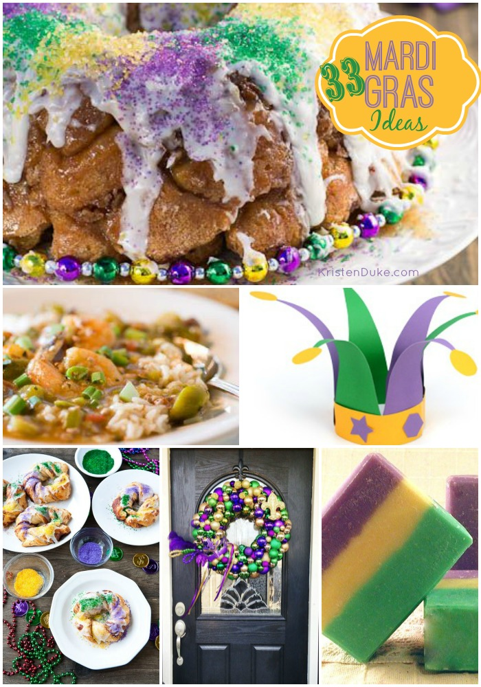 Mardi Gras recipes, crafts, and decor