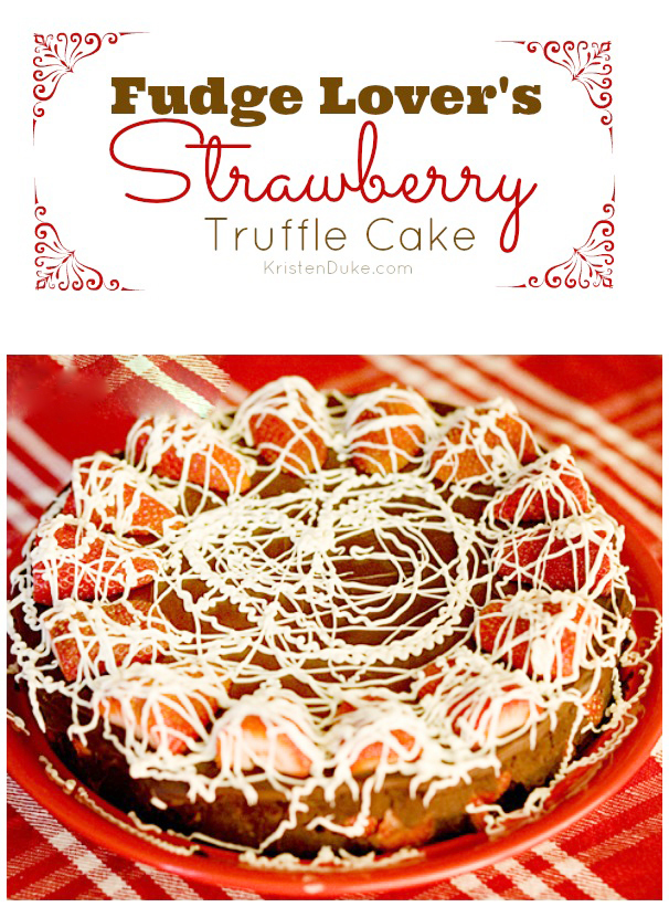 Fudge Strawberry Truffle Cake