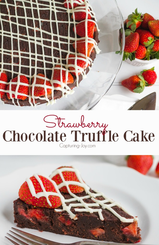 Strawberry Chocolate Truffle Cake perfect Valentine's Day dessert