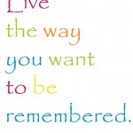 16x20 live the way you want to be remembered copyX