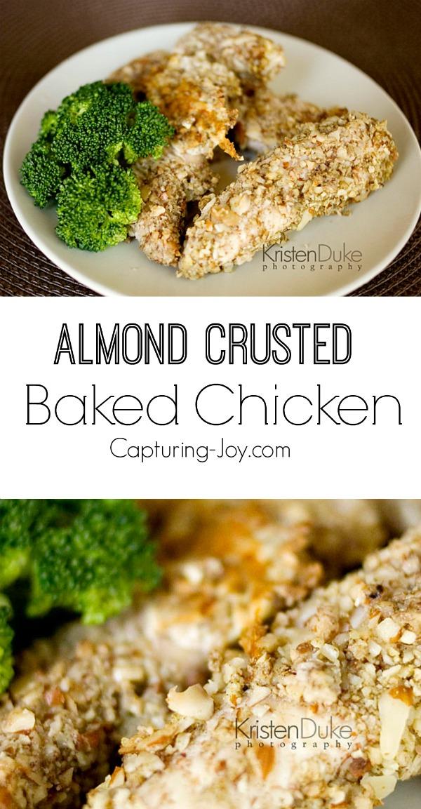 Almond Crusted Baked Chicken Recipe! Capturing-Joy.com