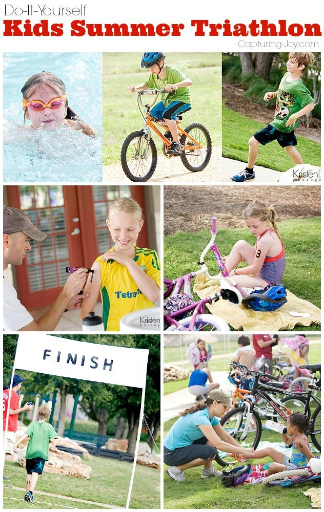 DIY Kids Summer Triathlon