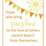 Sunshine-Printable small