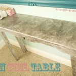 tin foil table kristendukephotography.com #table #modpodge