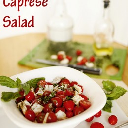 Easy Caprese Salad by Capturing Joy with Kristen Duke #salad #caprese