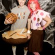 photo backdrop couples halloween party