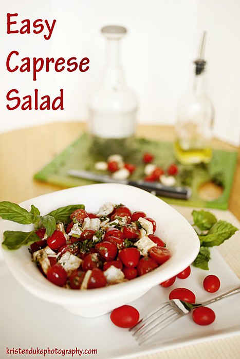 caprese salad in a bowl
