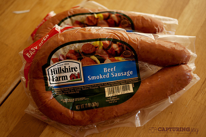 hillshire farm link sausage for sausage mac and cheese