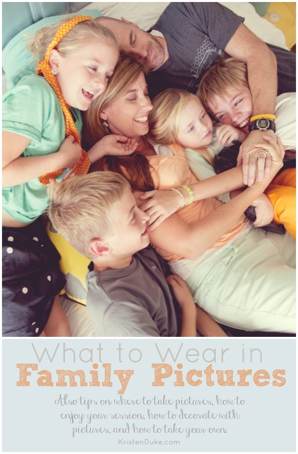 What to Wear in Family Pictures www.KristenDuke.com