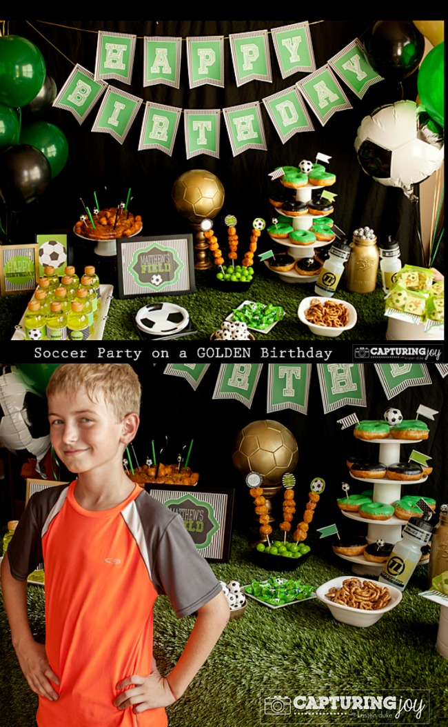 Soccer Party On A Golden Birthday Capturing Joy With