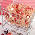 Peppermint White Chocolate M&M Krispie Treat