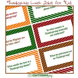 thanksgiving lunch jokes @Capturing Joy with Kristen Duke