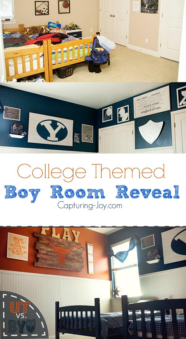 DIY Boys Bedroom Reveal! Capturing-Joy.com