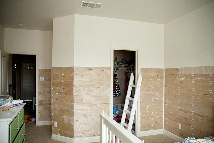 spackled plank wall