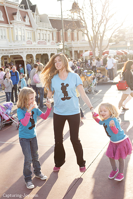Dancing at Walt Disney World with girls