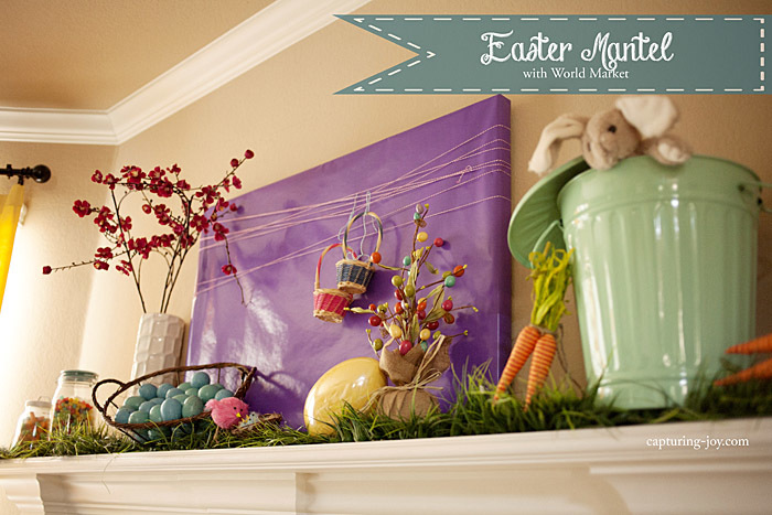 My Easter Mantel with World Market – Easter Mantel Decorations