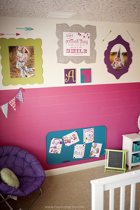 Girls Fancy Room Makeover www.Capturing-Joy.com #homedecor #girlsroom