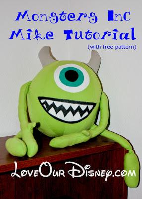Monters Inc Stuffed Mike tutorial