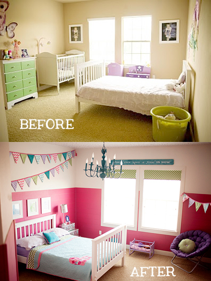 before and after girls room text