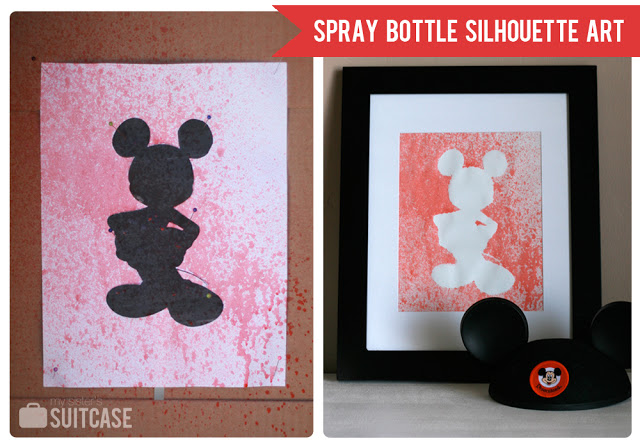 disney spray bottle art