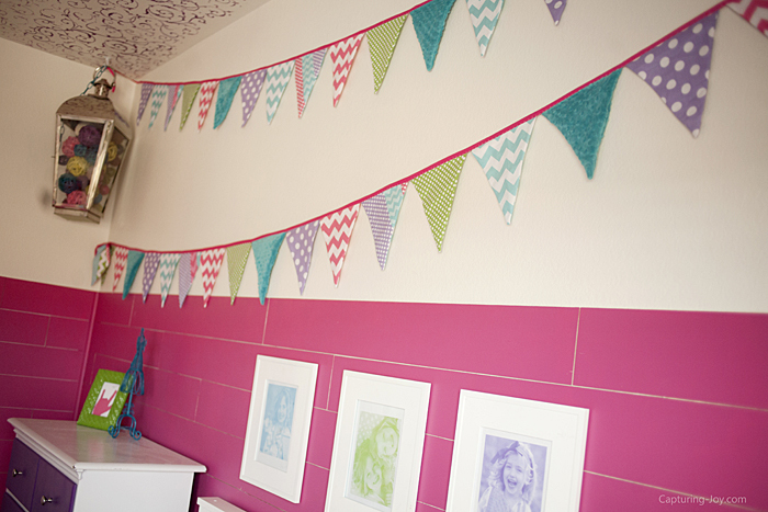 riley blake fabric pennant banner