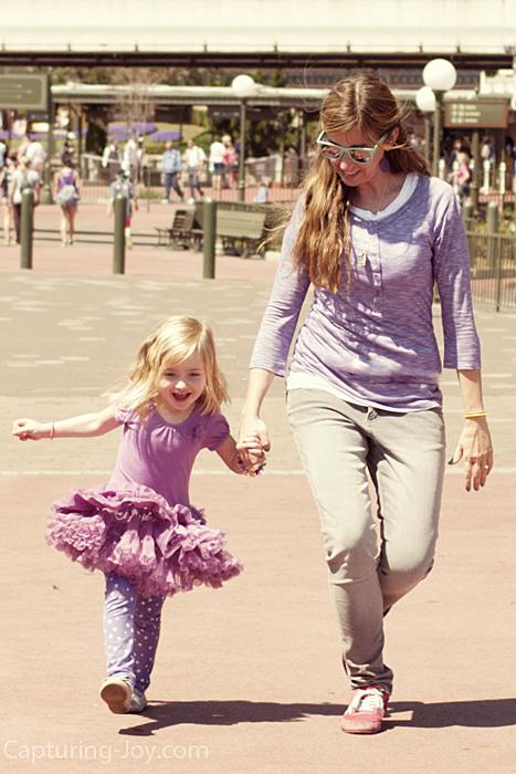 skipping at Walt Disney World