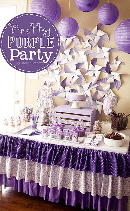Pretty Purple Party table