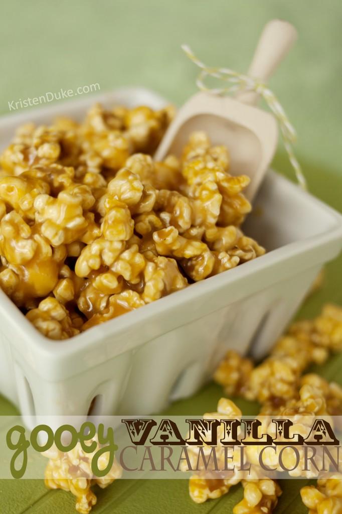 gooey vanilla caramel corn