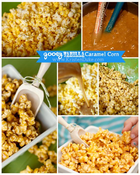 gooey vanilla caramel corn steps