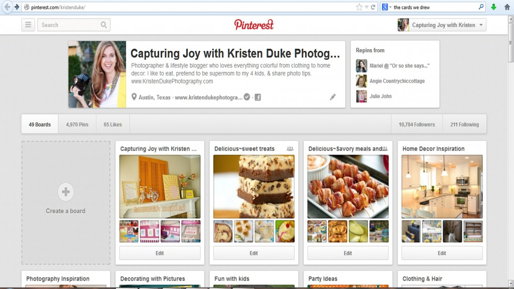 pinterest profile
