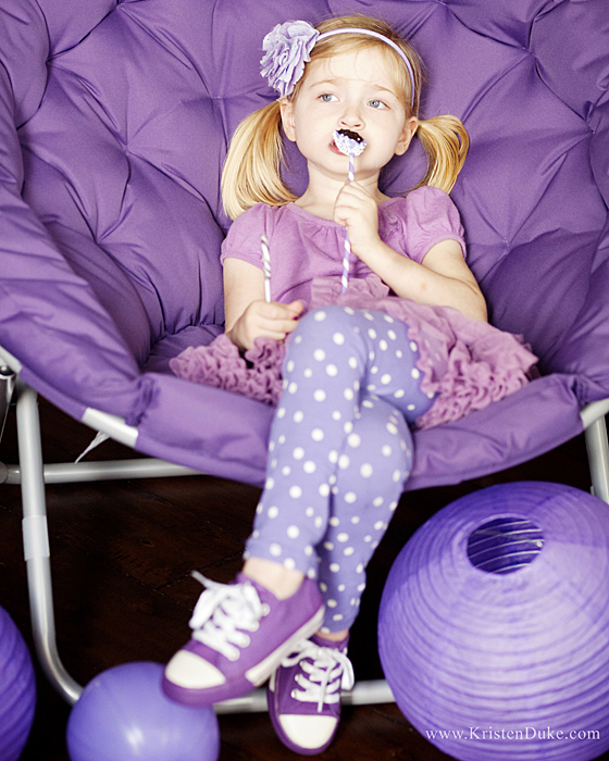 purple party chair