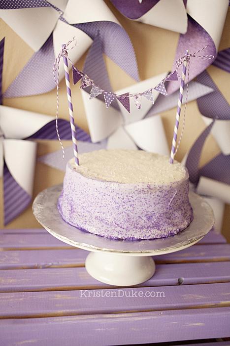 sprinkle banner cake