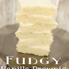 Fudgy Vanilla Brownie