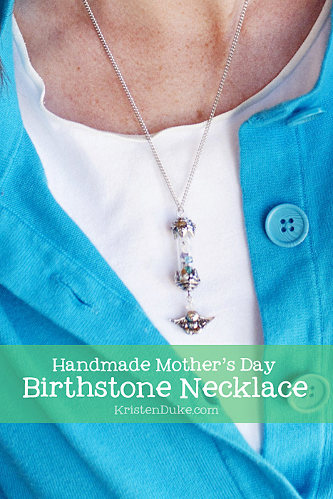 Handmade Mother's Day Birthstone Necklace