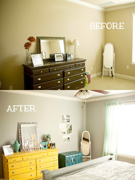 before and after of master dresser