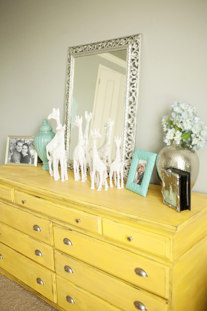 dresser painted yellow