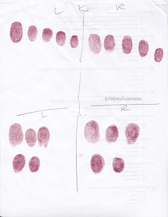 inked fingerprints both