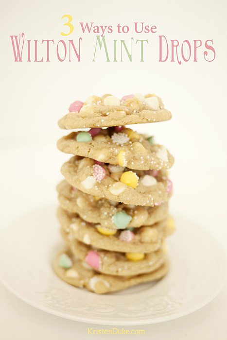 3 ways to use Wilton mint drops besides just snacking on them. #cookies www.KristenDuke.com
