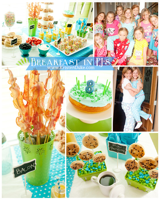 Breakfast in PJs collage