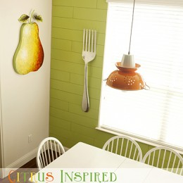 Citrus Inspired Kitchen Makeover