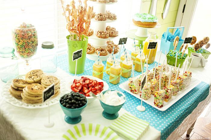 breakfast in pj 39 s birthday party