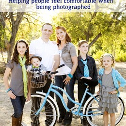 helping people feel comfortable when being photographed tip