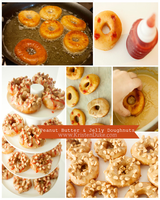 peanut butter and jelly doughnuts recipe
