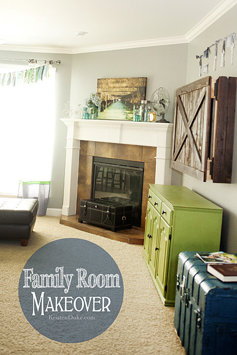 Family Room Makeover DIY www.KristenDuke.com #diy #makeover