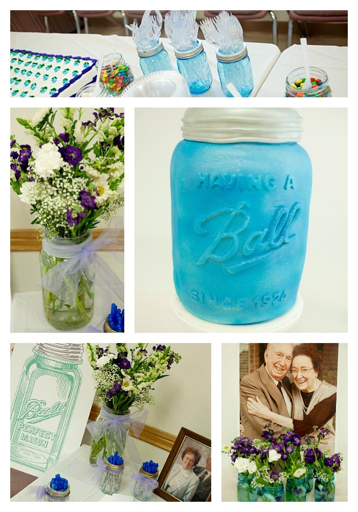 Mason Jar party collage