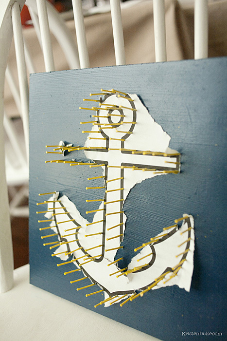 anchor with paper