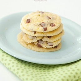 cinnamon chip cake batter cookies