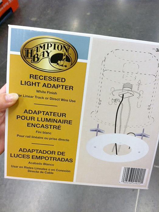 recessed light adapter kit hampton bay