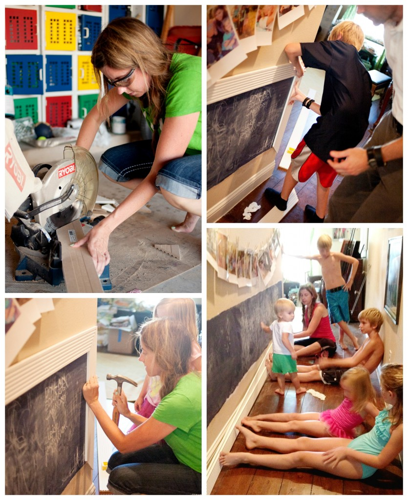 Adding Trim to Chalkboard Wall