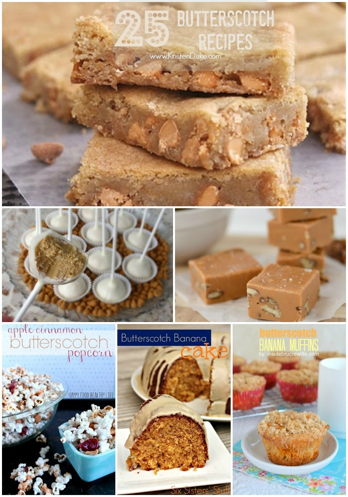 25 Delicious Butterscotch Recipes www.KristenDuke.com
